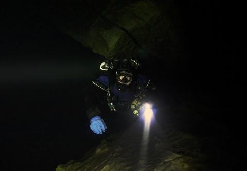Plura cave, pSCR Gerbertz, Ilya Kozlov