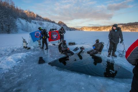Ice Diving, Бокситогорск